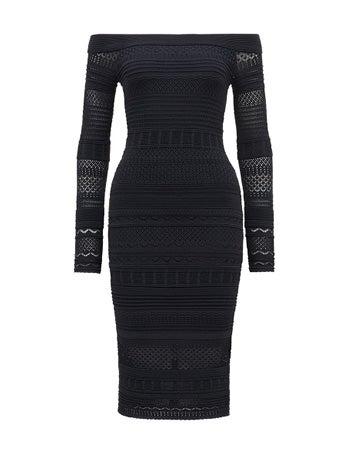 Sheana Lace Stitch Knitted Dress