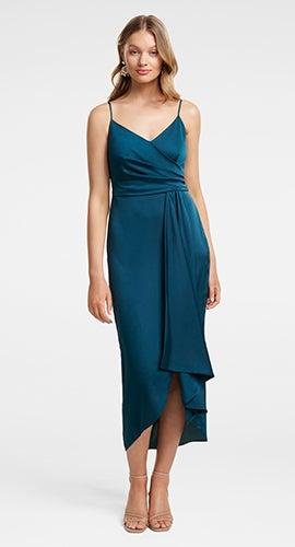 Bree Crossover Drape Dress