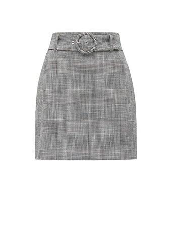 Chelsea Belted Check Mini Skirt