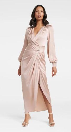 Ezra Satin Jewel Maxi Dress