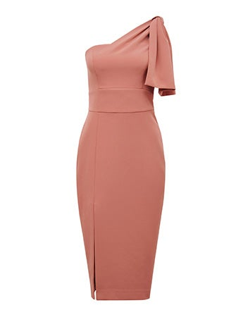 Bessy One-Shoulder Bow Dress