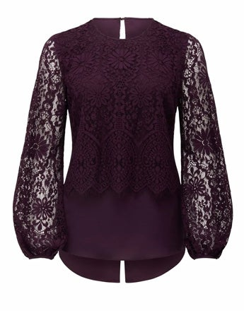 Dalia Lace Spliced Blouse