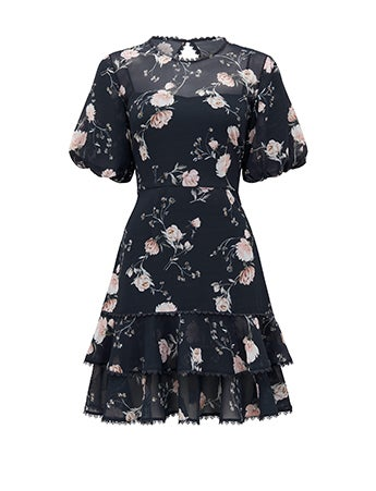 Erin Flippy Puff Sleeve Dress