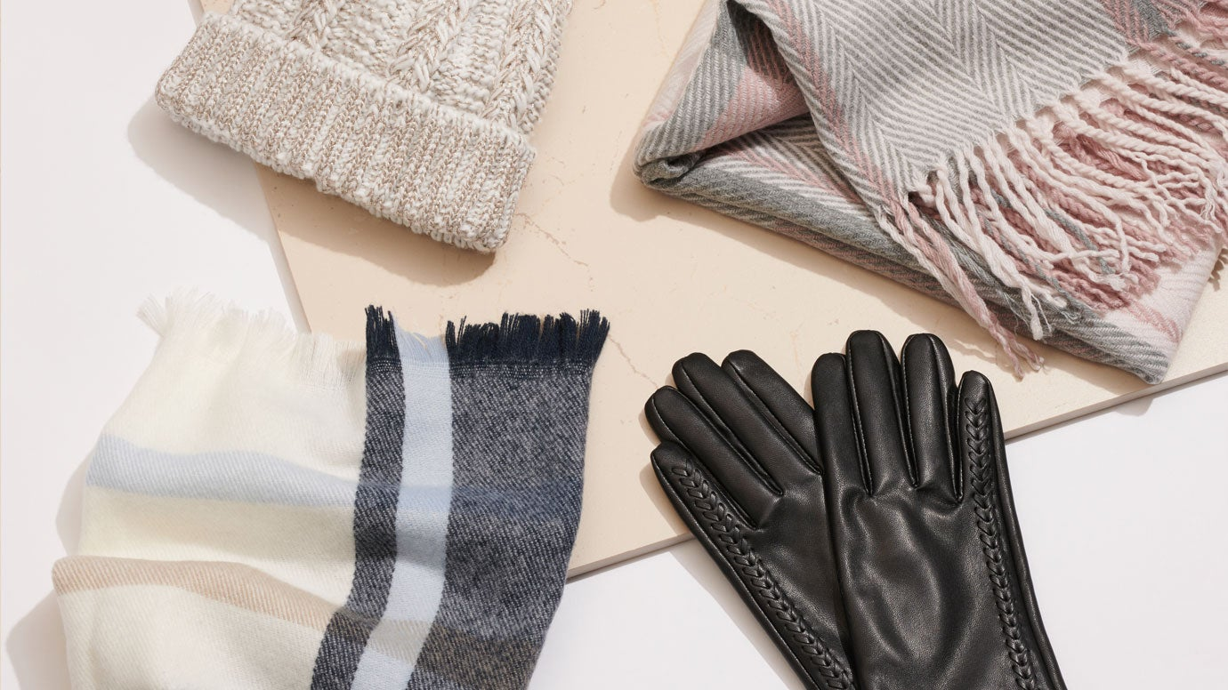 gloves and scarf