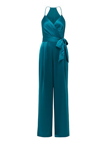 Madison Satin Wrap Jumpsuit
