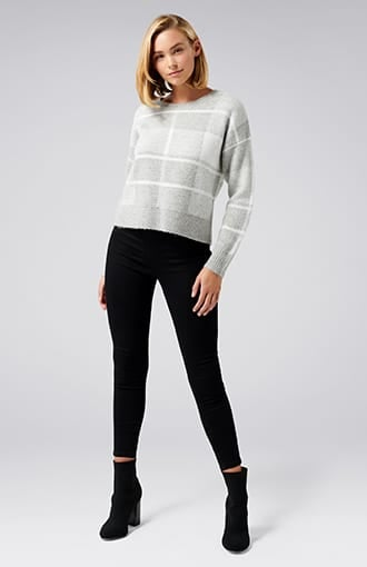 <b>Savannah</b><br />Check Sweater