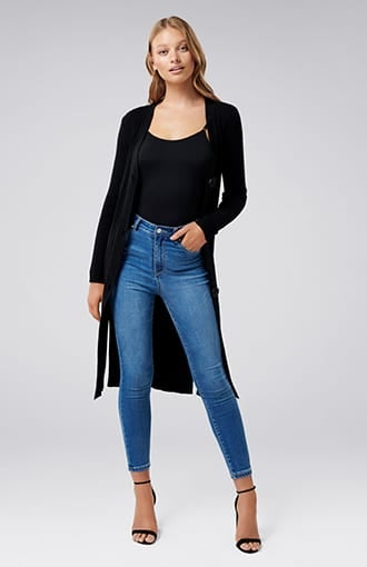 <b>Elora</b><br />Button-Up Longline Cardigan