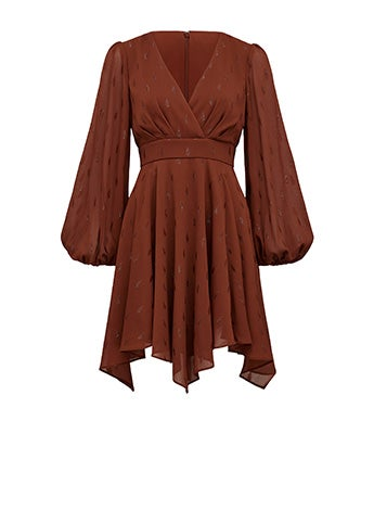 Raquel Balloon Sleeve Mini Dress