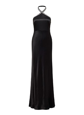 Sloan Embellished Arrow Neck Gown