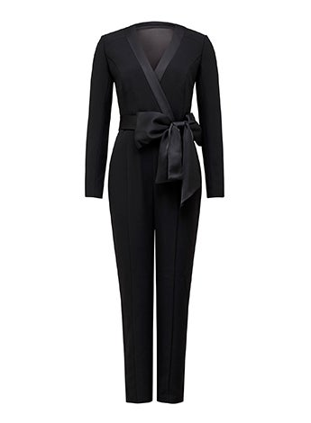 Sue Satin Bow Jumpsuit