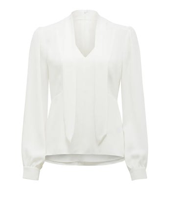 Tamika Slim Tie-Neck Blouse
