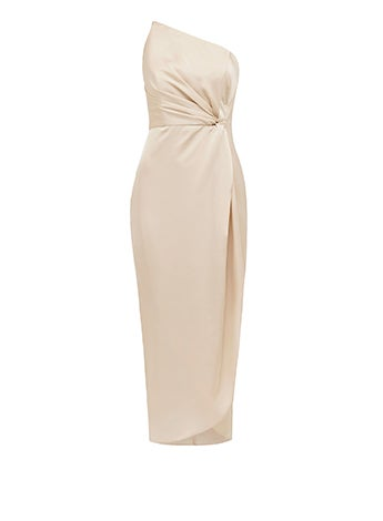 Vyla One-Shoulder Twist Dress