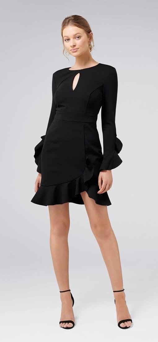 Carolina Long-Sleeved Ponte Dress