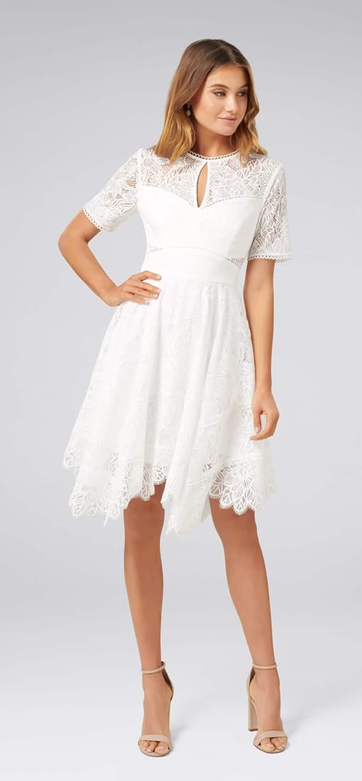 Harley Hanky Hem Lace Dress