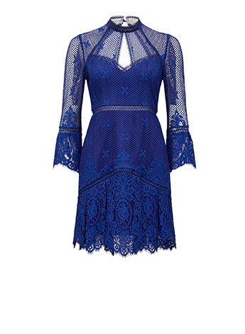Yasmin Lace Flippy Hem Dress
