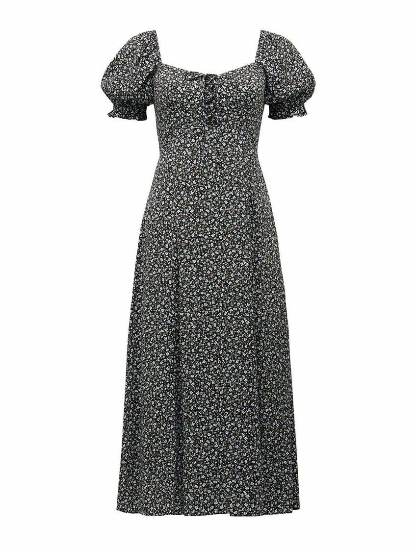 Mariah Lace Up Midi Dress