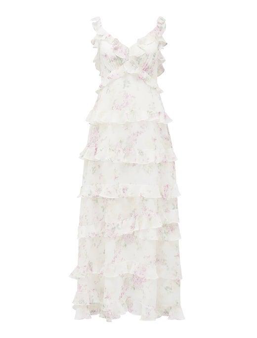 Joyce Ruffle Midi Dress