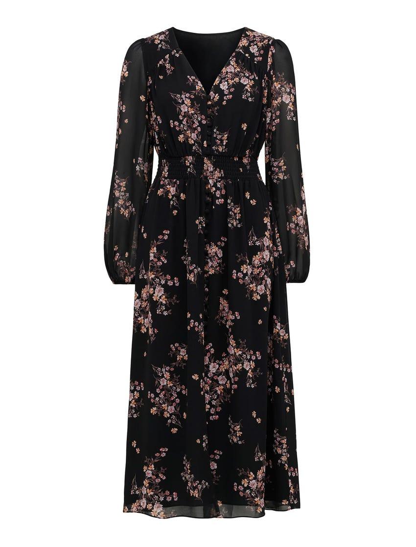 Erin Button Midi Dress