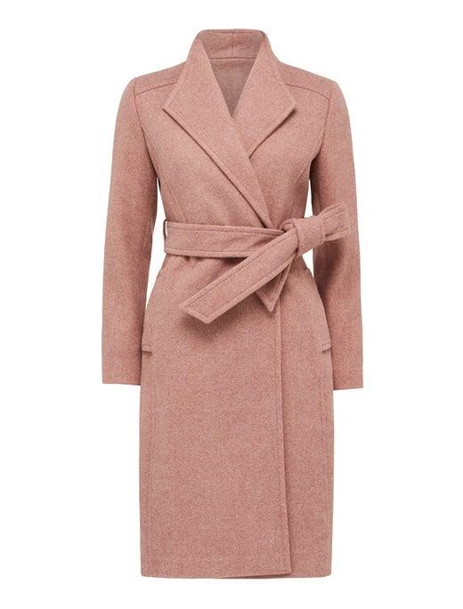 Heather Petite Wrap Coat