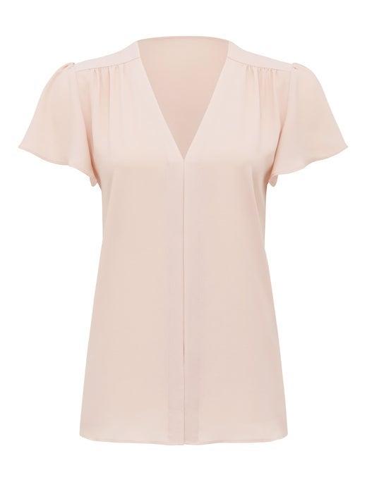 Elaina Flutter Short Sleeve Top