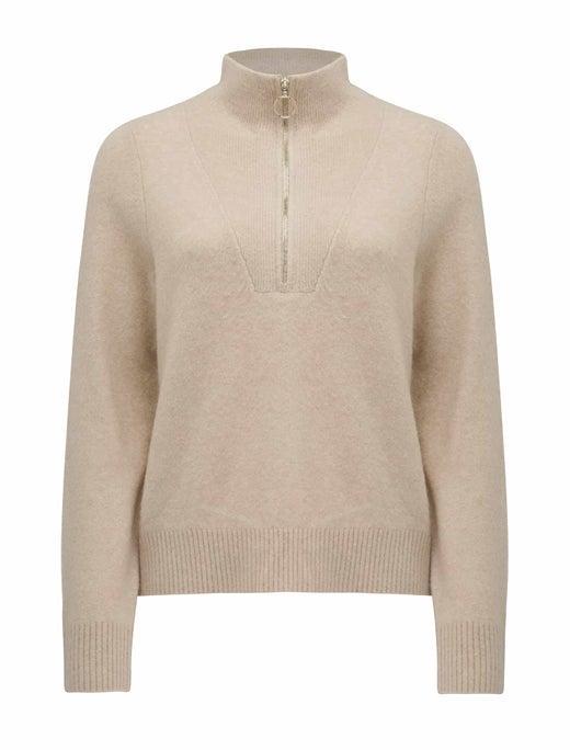 Candice Half Zip-Neck Sweater