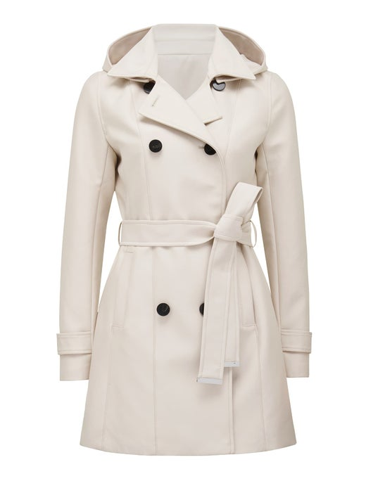 chloe hooded trench