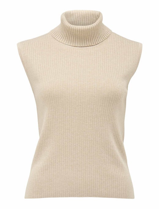 Enza Rib Roll-Neck Knit Top