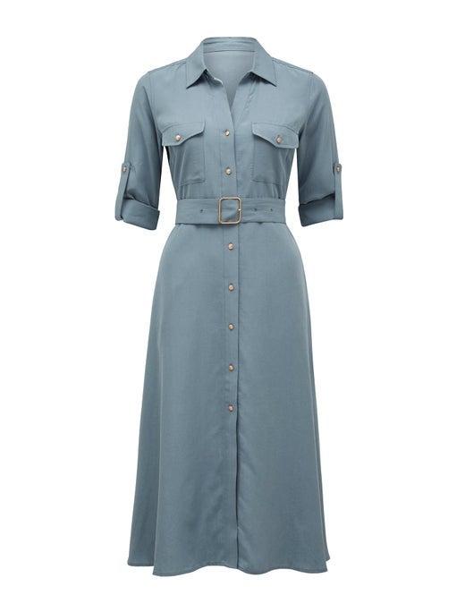 Janelle Petite Midi Shirt Dress