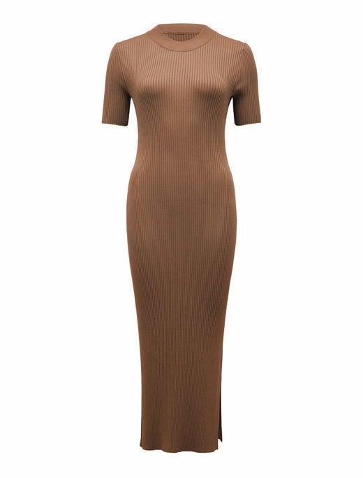 Yazmin Rib Tee Midi Knit Dress