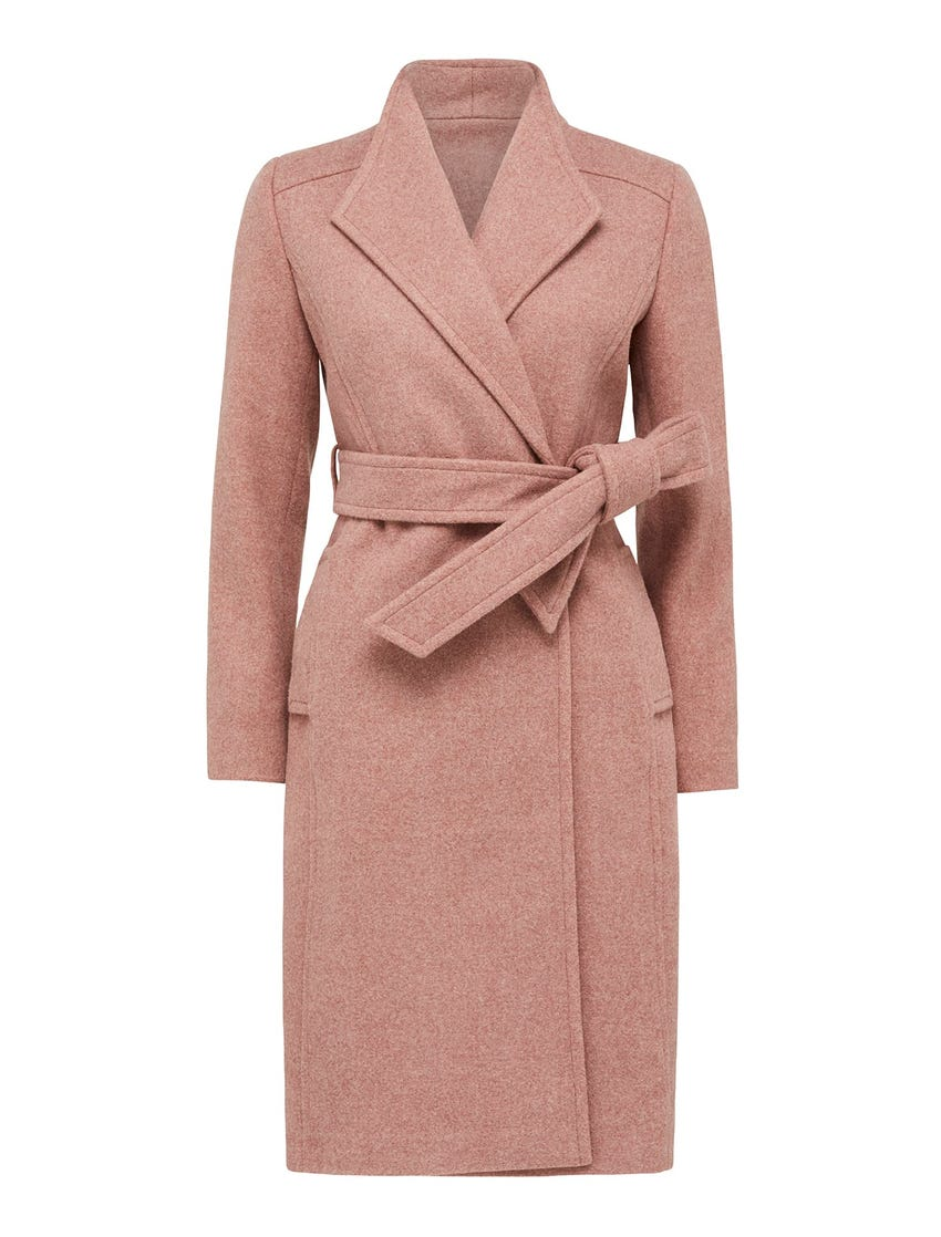 Heather Petite Wrap Coat