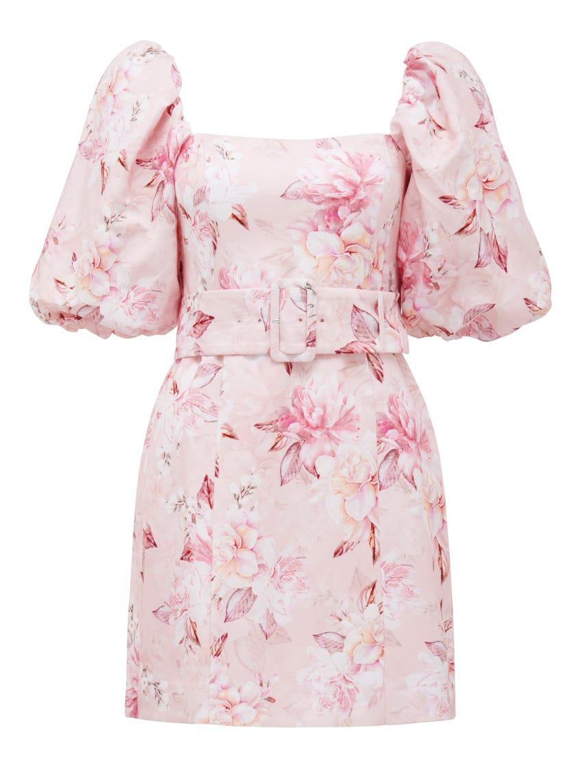 Ashley Puff Sleeve Mini Dress
