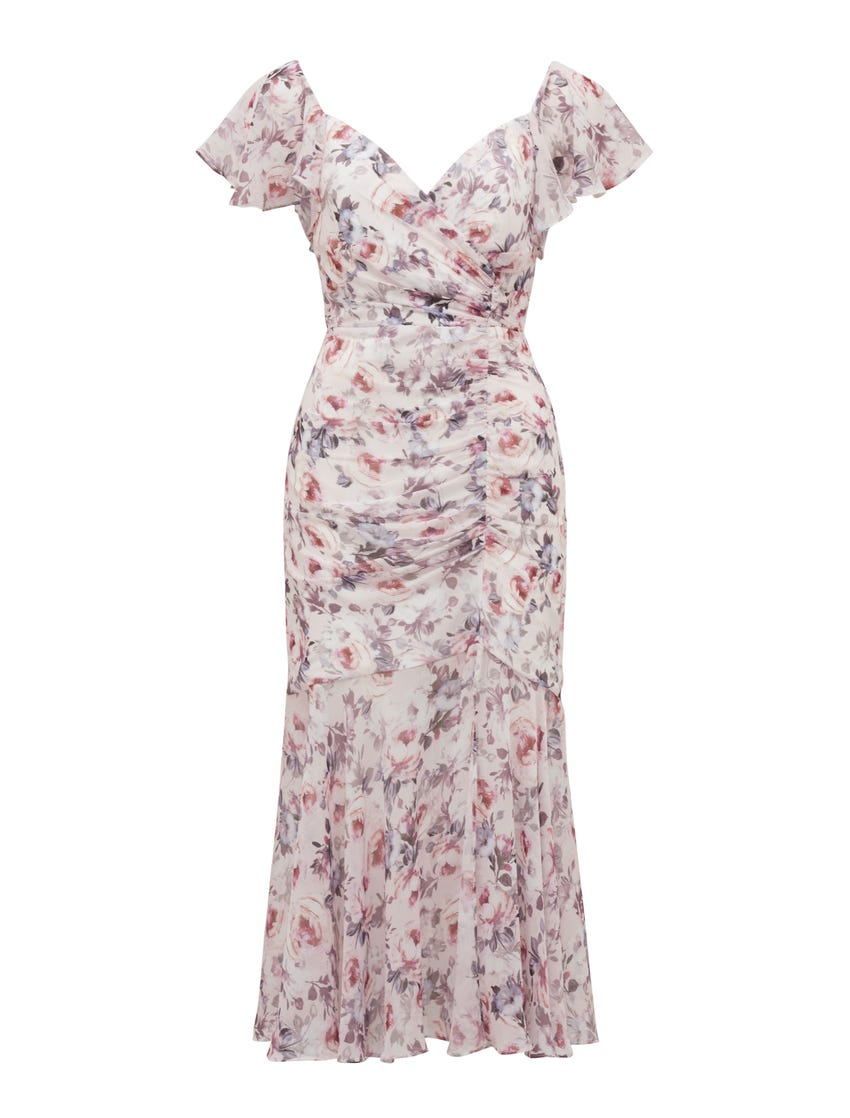 Azalea Ruched Maxi Dress