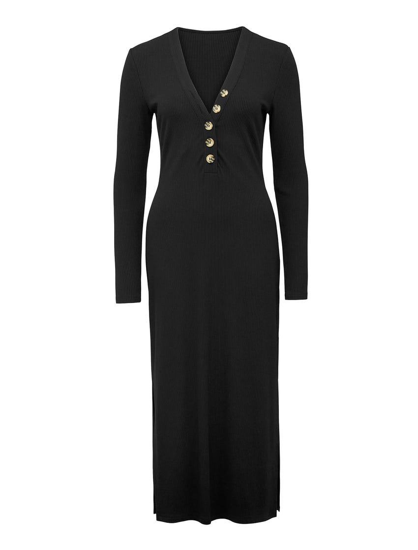 Bethany Rib Midi Dress