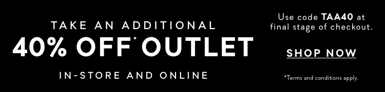Outlet - Take an additional 40% Off