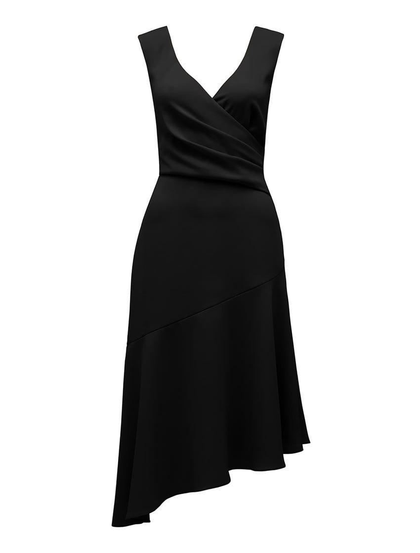 Cynthia Petite Draped Dress