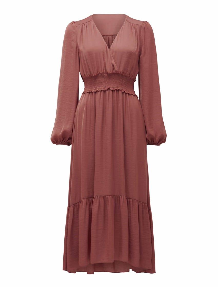 Eloise Petite Long Sleeve Midi Dress