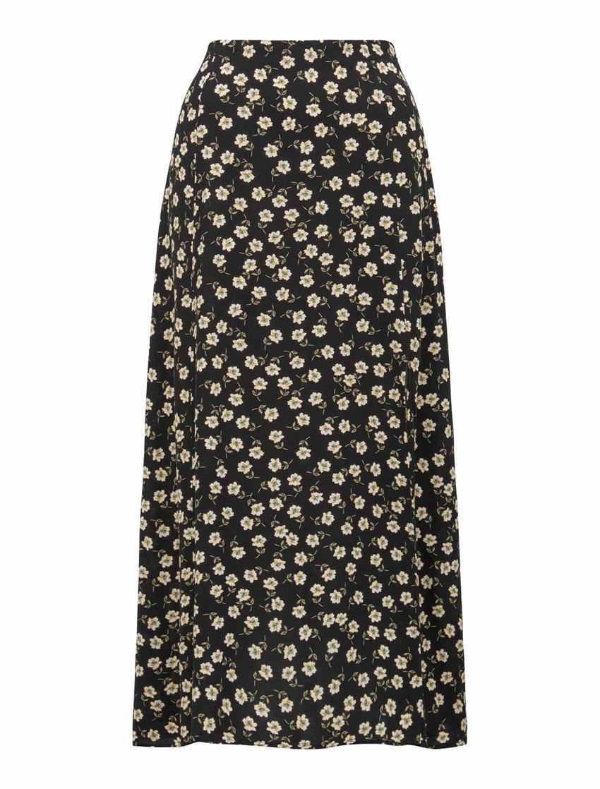 Estelle Column Split Midi Skirt