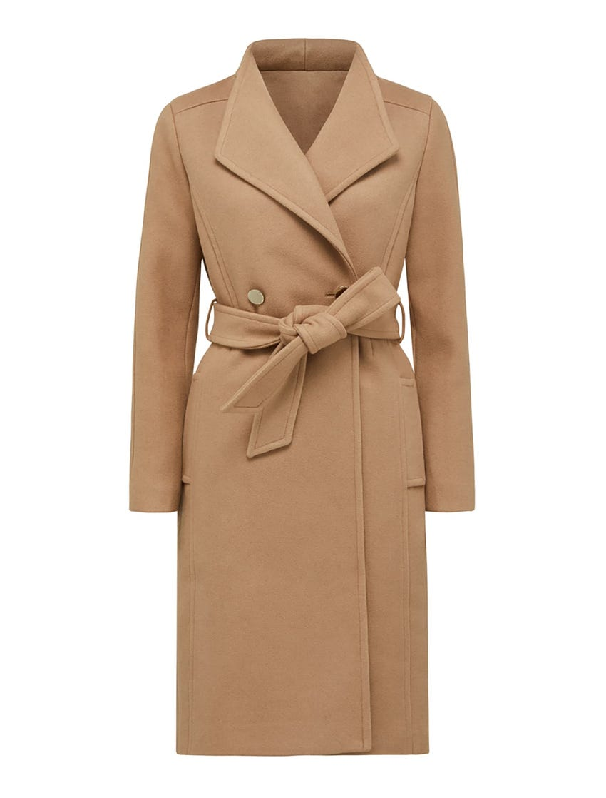 Heather Wrap Coat