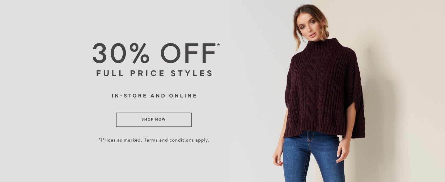 30% off Full Price - Ever New, Women's Clothing