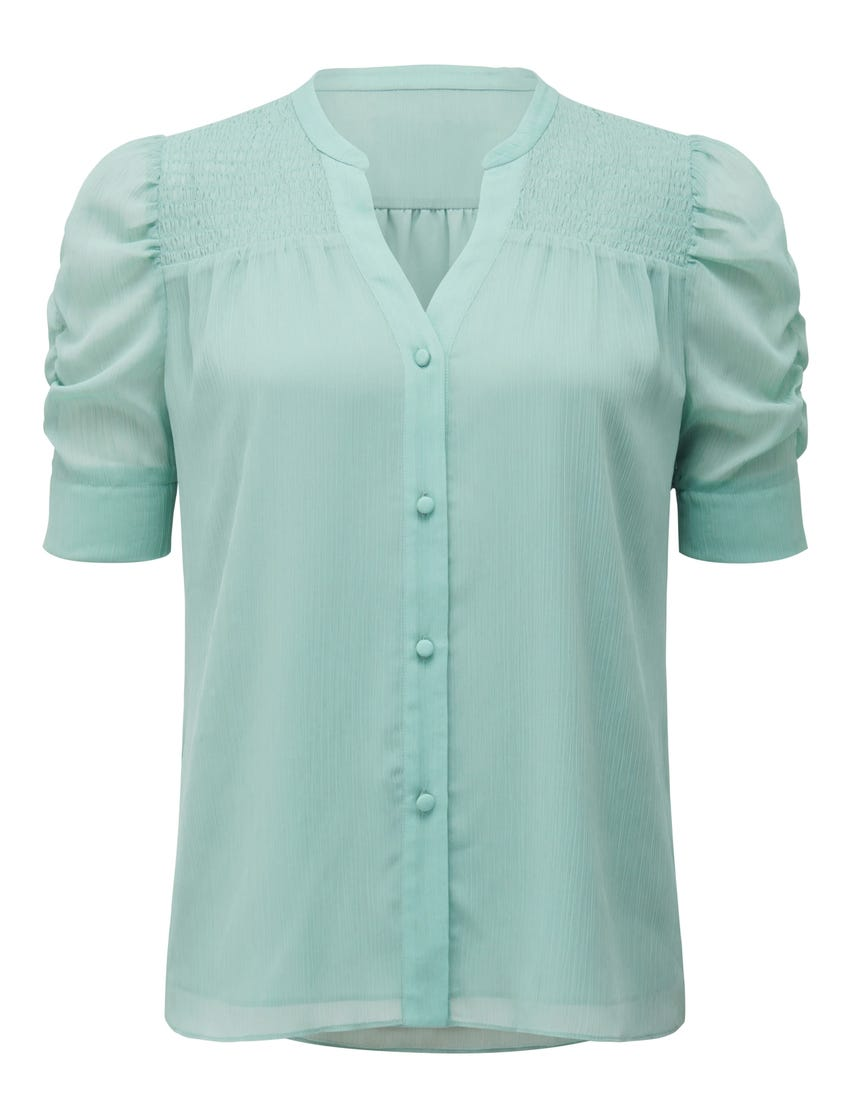 Jaiden Ruched Sleeve Top