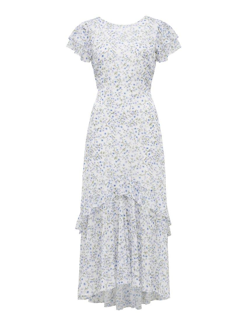 Josephine Flutter Sleeve Maxi Dress