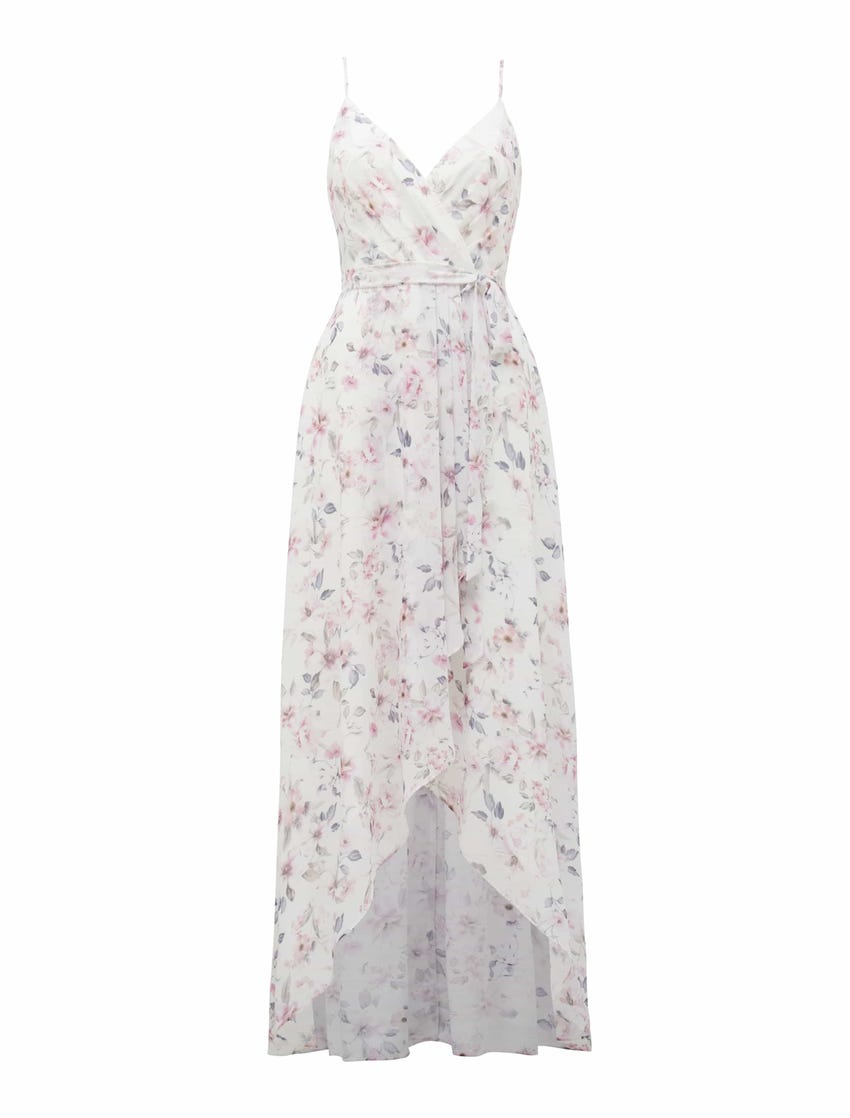 Lea Pleated Wrap Dress