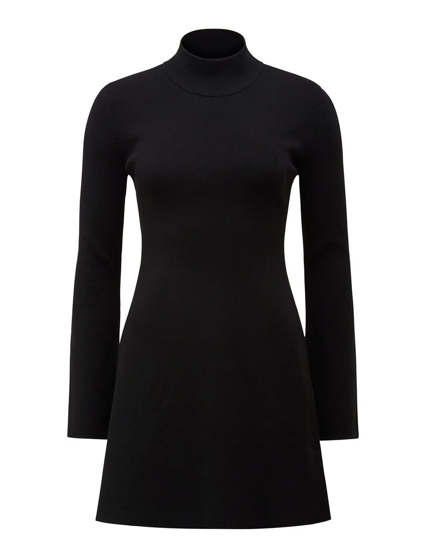 Leyla Extended Shoulder Knit Dress