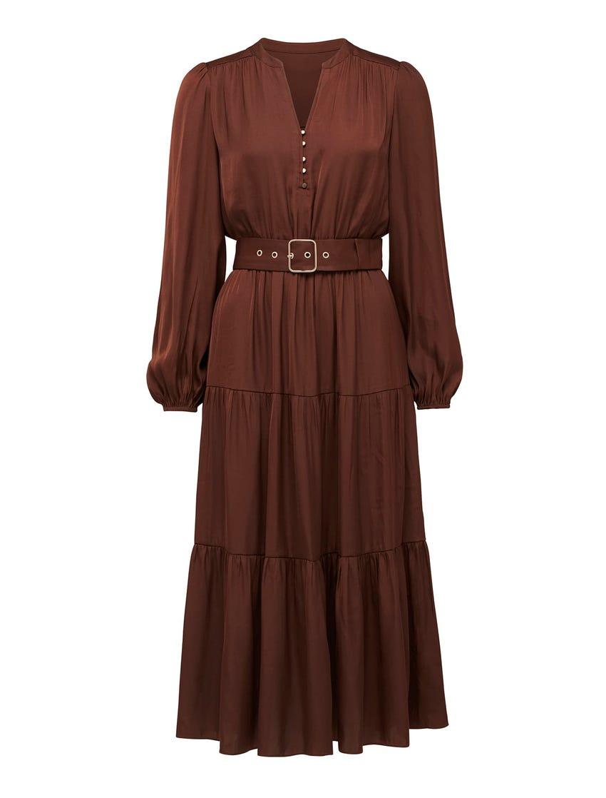 Mandy Long-Sleeve Tiered Dress