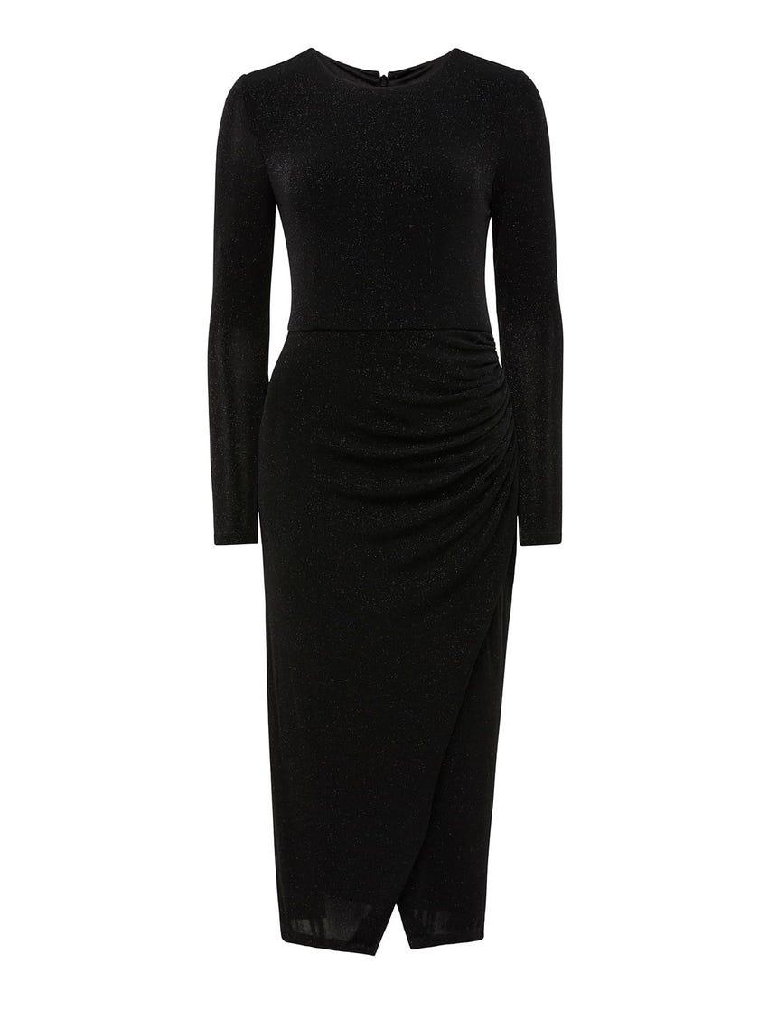 Marissa Jersey Ruched Midi Dress