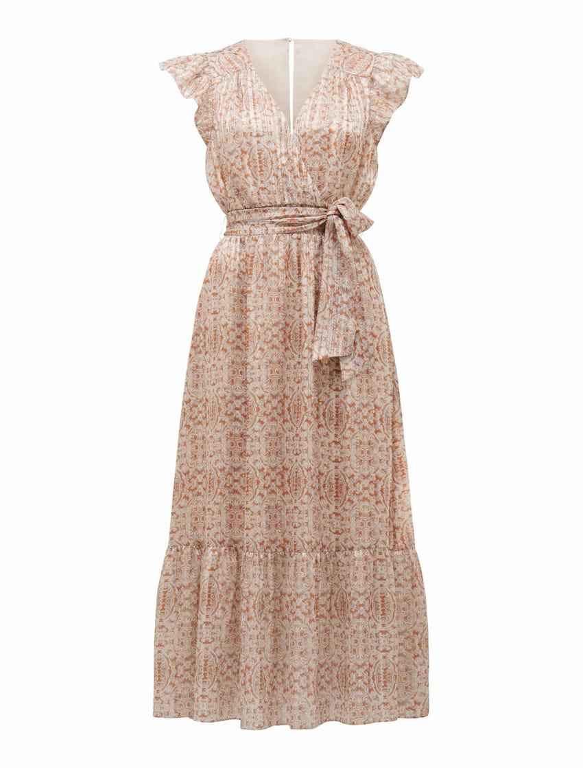 Marni Shirred Tiered Dress