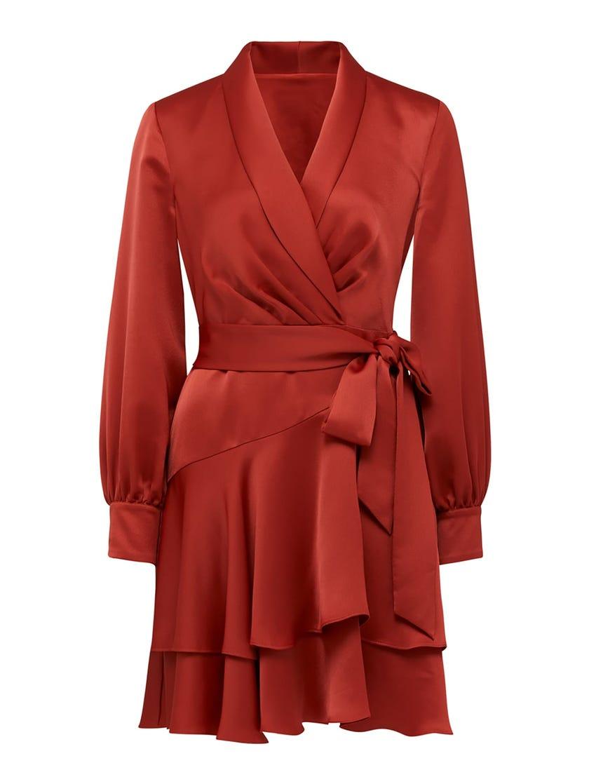 Mikayla Satin Mini Dress