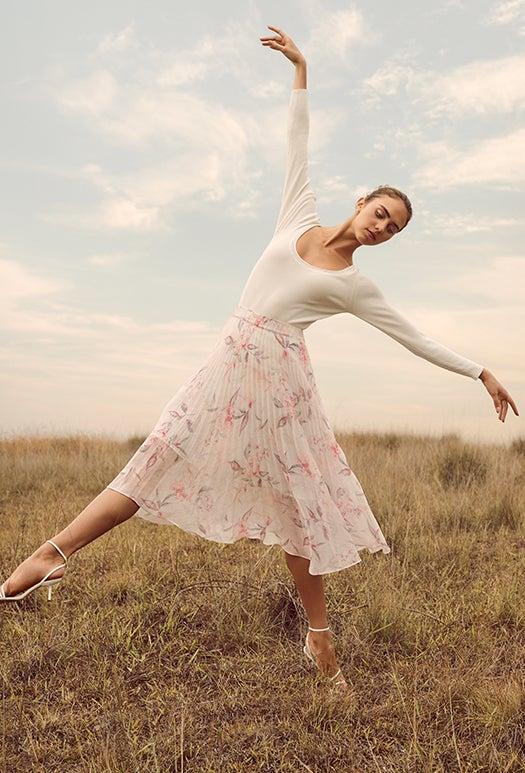 Lea Pleated Skirt
