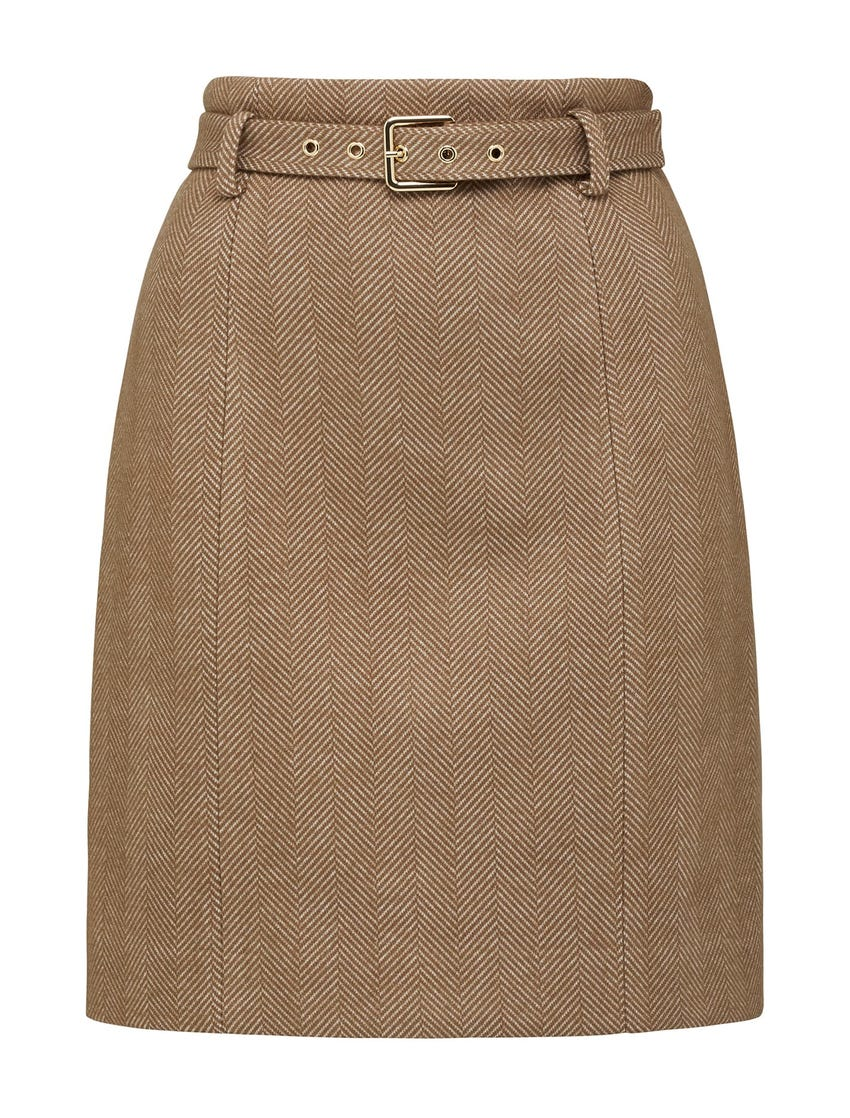 Ruth Belted Mini Skirt