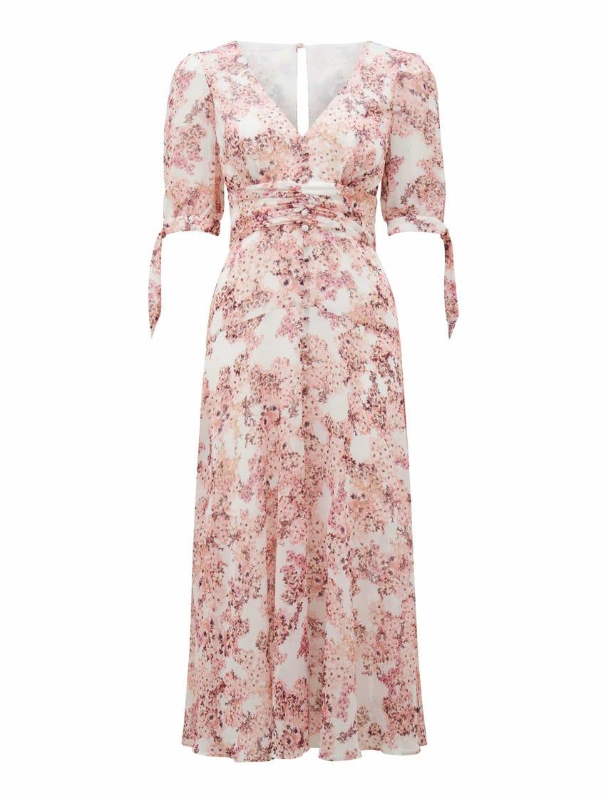 Sadie Tie Detail Maxi Dress